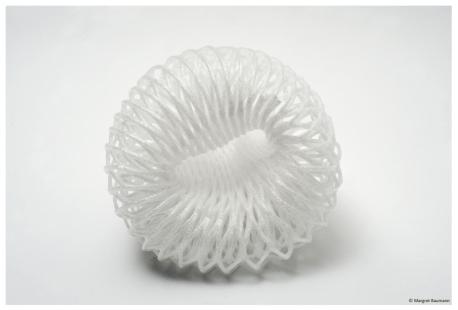Qualle; Fundstück, Styropor, 2009